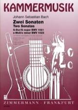 BACH - 2 Sonates - Violine Gitarre - Partition - di-arezzo.fr