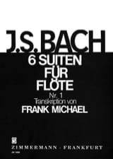 BACH - Suite N ° 1 in G Major BWV 1007 For Flute Only - Sheet Music - di-arezzo.co.uk