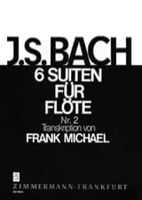 BACH - Suite N ° 2 BWV 1008 - For Flute Only 6 Suiten Für Flöte - Sheet Music - di-arezzo.co.uk
