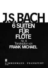 Suite Nr. 4 BWV 1010 Pour Flûte Seule 6 Suiten For Flöte Solo laflutedepan.com