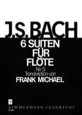 Suite Nr. 5 BWV 1011 Pour Flüte Seule (6 Suiten För Flöte) laflutedepan.com