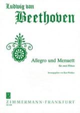 Allegro und Menuett - 2 Flöten Ludwig van Beethoven laflutedepan.com