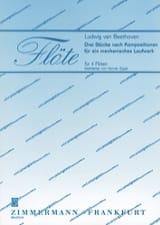 BEETHOVEN - 3 Stücke nach Kompositionen für ein mecanisches Laufwerk - 4 Flöten - Partition - di-arezzo.fr