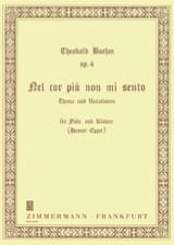 Theobald Boehm - Nel cor più not mi sento op. 4 - Flöte Klavier - Sheet Music - di-arezzo.com