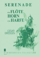 Serenade - Flöte Horn Harfe Cesar Bresgen Partition laflutedepan.com