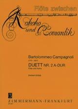 Bartolomeo Campagnoli - Duett Nr. 2 A-Dur - Flöte Violine - Partition - di-arezzo.fr
