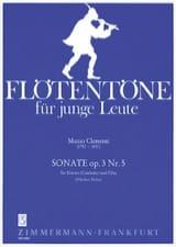 Muzio Clementi - Sonate, op. 3 n° 5 – Flöte Klavier (Cembalo) - Partition - di-arezzo.fr