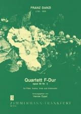 Quartett F-Dur op. 56 Nr. 3 – Flöte, Violine, Viola u. Violoncello - Stimmen laflutedepan.com