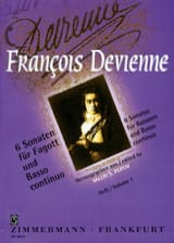 François Devienne - 6 Sonaten Volume 1 - Fagott Und Bc - Sheet Music - di-arezzo.com