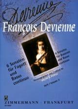 François Devienne - 6 Sonaten (Heft 2) – Fagott und BC - Partition - di-arezzo.fr