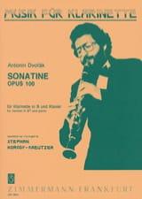Antonin Dvorak - Sonatine op. 100 – Klarinette Klavier - Partition - di-arezzo.fr