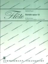 Sonate Opus 13 - Gabriel Fauré - Partition - laflutedepan.com