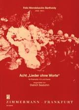 8 Lieder ohne Worte – Klarinette Klavier - laflutedepan.com