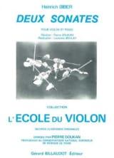 Heinrich Ignaz Franz Biber - 2 Sonates - Partition - di-arezzo.fr