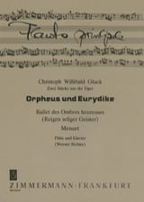 GLUCK - 2 Pieces from the Opera Orpheus and Eurydice - Flute and Piano - Sheet Music - di-arezzo.com
