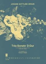 Johann Gottlieb Graun - Triosonate D-Dur –2 Flöten Bc - Partition - di-arezzo.fr