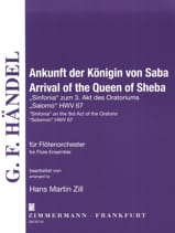 Arrival of the Queen of Sheba - Flute quartet or ensemble laflutedepan.com