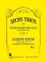 Joseph Haydn - 6 Trios Op.100 Volume 1 - Partition - di-arezzo.fr