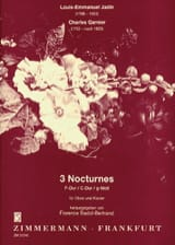 Jadin Louis Emmanuel / Garnier Charles - 6 Nocturnes Volume 1 - Partition - di-arezzo.fr