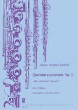 Johann Friedrich Klöffler - Quartetto concertante n° 2 – 4 Flöten - Partition - di-arezzo.fr