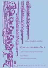 Johann Friedrich Klöffler - Quartetto concertante n° 3 –4 Flöten - Partition - di-arezzo.fr