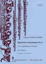 Johann Friedrich Klöffler - Quartetto concertante n° 5 –4 Flöten - Partition - di-arezzo.fr