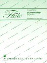 Ernesto KÖHLER - Blumenwalzer – 2 Flöten Klavier - Partition - di-arezzo.fr