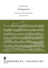 Franz Krommer - Quartett D-Dur op. 93 - Flute Violine Viola Violoncello - Partitur Stimmen - Sheet Music - di-arezzo.com