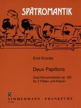 Emil Kronke - Deux papillons op. 165 - Partition - di-arezzo.fr