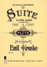 Suite im alten Stil op. 81 Emil Kronke Partition laflutedepan.com