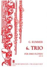 Trio n° 6 op. 59 - 3 Flöten Gaspard Kummer Partition laflutedepan