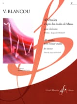 V. Blancou - 40 Studies after Mazas - Volume 2 - Clarinet - Sheet Music - di-arezzo.co.uk