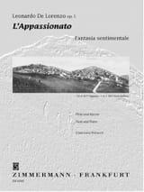 Leonardo de Lorenzo - L' Appassionato op. 5 - Flöte Klavier - Partition - di-arezzo.fr