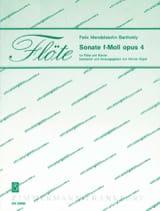 Sonate F-Moll Op. 4 MENDELSSOHN Partition laflutedepan