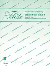 Sonate F-Moll Op. 4 MENDELSSOHN Partition laflutedepan.com