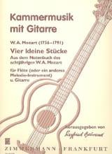 4 Kleine Stücke -Flöte Gitarre MOZART Partition laflutedepan.com