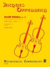 Jacques Offenbach - Zwölf Etüden op. 78, Heft 1: No. 1-7 - Sheet Music - di-arezzo.co.uk