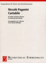 Niccoló Paganini - Cantabile - Partition - di-arezzo.fr