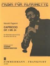 Niccolò Paganini - Capriccio op. 1 n ° 24 - Klarinette - Partitura - di-arezzo.es
