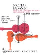 Niccolò Paganini - Centone di Sonata 7-12 - Violine Gitarre - Partition - di-arezzo.fr