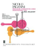 Serenata Nr. 2 –Partitur + Stimmen Niccolò Paganini laflutedepan.com