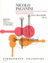 Niccolò Paganini - Sonata per la Gran Viola e Chitarra - Partition - di-arezzo.fr