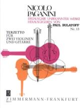 Niccolò Paganini - Terzetto für 2 Violinen und Gitarre –Partitur + Stimmen - Partition - di-arezzo.fr