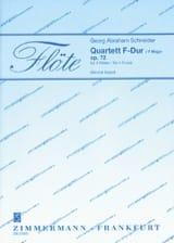 Quartett F-Dur Georg Abraham Schneider Partition laflutedepan.com