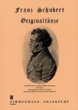Originaltänze - Flûte et Guitare Franz Schubert laflutedepan.com