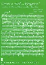 SCHUBERT - Sonata A-Moll Arpeggione - Partitura - di-arezzo.es
