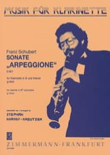 Franz Schubert - Sonate Arpeggione g-moll D. 821 – Klarinette Klavier - Partition - di-arezzo.fr