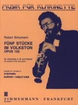 SCHUMANN - 5 Stücke im Volkston op. 102 - Partition - di-arezzo.fr