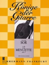 12 Menuette op. 11 - Fernando Sor - Partition - laflutedepan.com