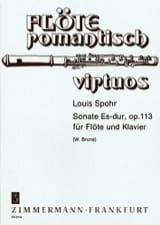 Sonate Mib Maj. Op. 113 Louis Spohr Partition laflutedepan.com
